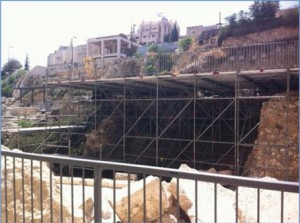 This new prayer plaza in the southern section of the Western Wall is designed for non-Orthodox prayer at Robinson's Arch.