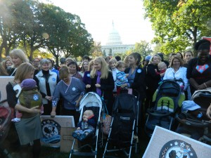 Close to 200 people gathered in front of the Capitol to urge Congress to pass tough chemical safety laws.  Photo by Suzanne Pollak
