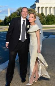 Olga Zhivov and Carl Chapman on their wedding day in 2012. Mark Reinertson Photography