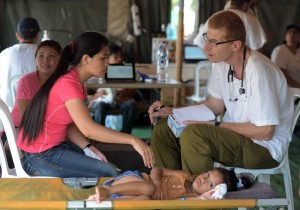 Israeli military personnel assist survivors of the typhoon that ravaged the Philippines last week.