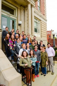 Avodah corps members and staff gather outside the Avodah office in Northwest D.C. Photos by David Stuck