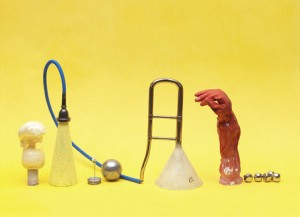 """Objects on Yellow,"" by Tamar Ettun"