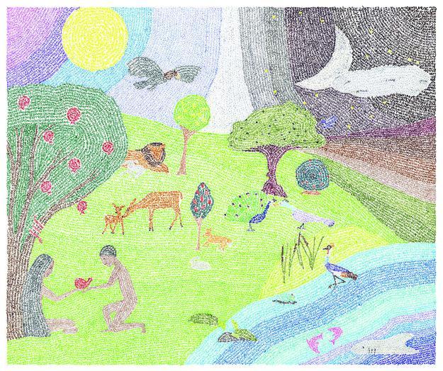 Antonoff's portrayal of the Garden of Eden
