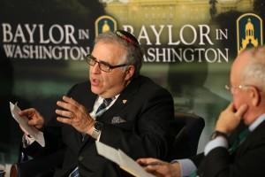"Rabbi Richard Joel addresses ""The Calling of Faith-based Universities,"" at the National Press Club.  Photo courtesy Baylor University"