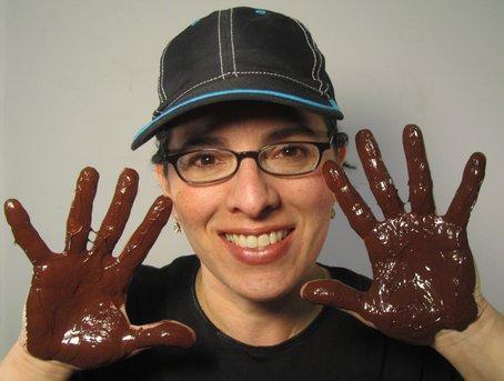 Bethesda chocolatier Rachelle Dalva Ferneau has her hands full.