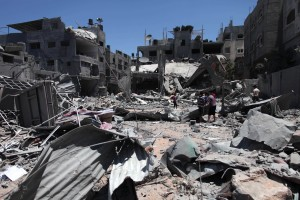 A report by Physicians for Human Rights-Israel said Israeli policy did not allow sufficient protection for Palestinian civilians in last summer's Gaza war. File photo