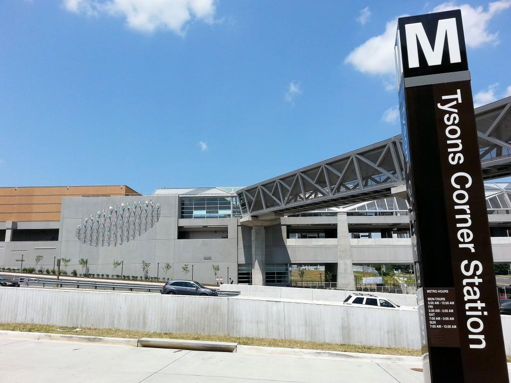 Metro Silver Line Tysons Corner station Photo by Josh Marks