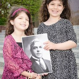 Gabriella, 7, and Madeleine, 5, the granddaughters of Washington resident Barbara Goldberg, whose parents were saved by Aristides de Sousa Mendes, attended Sunday's Garden of the Righteous program at Adas Israel Congregation in Washington. Photo by Betty Adler Photography