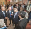 Attendees of the OU Advocacy's recent legislative breakfast chat up Lt. Gov. Boyd Rutherford. Anthony Marill Photography