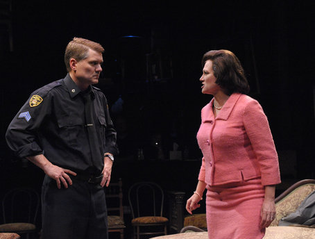 Charlie Kevin and Valerie Leonard as Victor and Esther Franz in Olney Theatre Center's production of Arthur  Photos by Stan Barouh