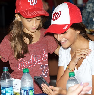 Nats fans at Jewish Community Day at Nationals Park.