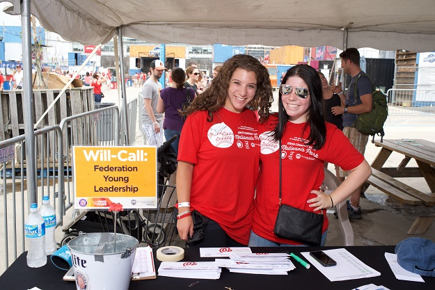 Jewish Community Day at Nationals Park volunteers