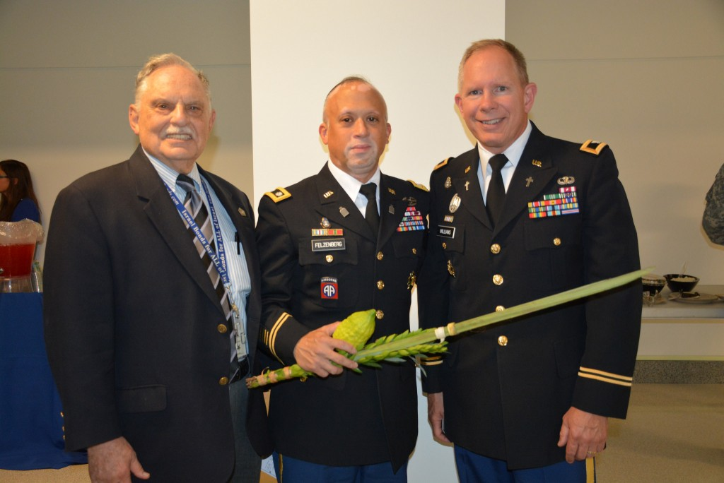 From left: Rabbi Marvin Bash, Chaplain (LTC) Shmuel Felzenberg and Chaplain (COL) Kenneth Williams, the Pentagon chaplain.