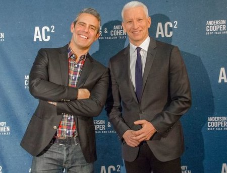 Bravo's Andy Cohen, left, and CNN's Anderson Cooper will share the stage Saturday in Washington. Photo courtesy of Icon Entertainment Group Inc.