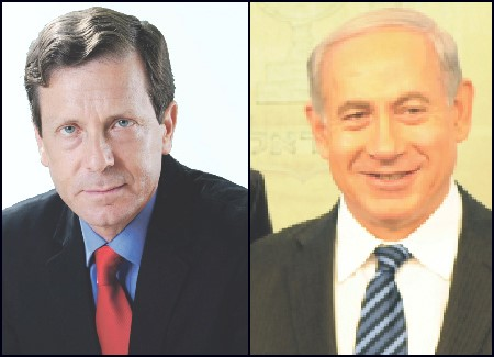 Israeli opposition leader Isaac Herzog, left, and Prime Minister Benjamin Netanyahu will speak at the G.A.