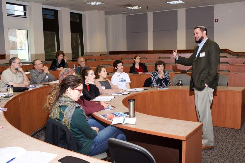 "Rabbi Uri Topolosky teaches ""Radical Amazement in a Box of Raisins."" Photos provided"