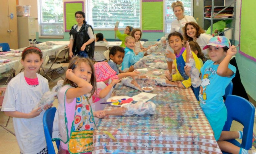 Campers made huge papier mache ice cream cones last summer at Camp Ahava. Photo courtesy of Emily Gould