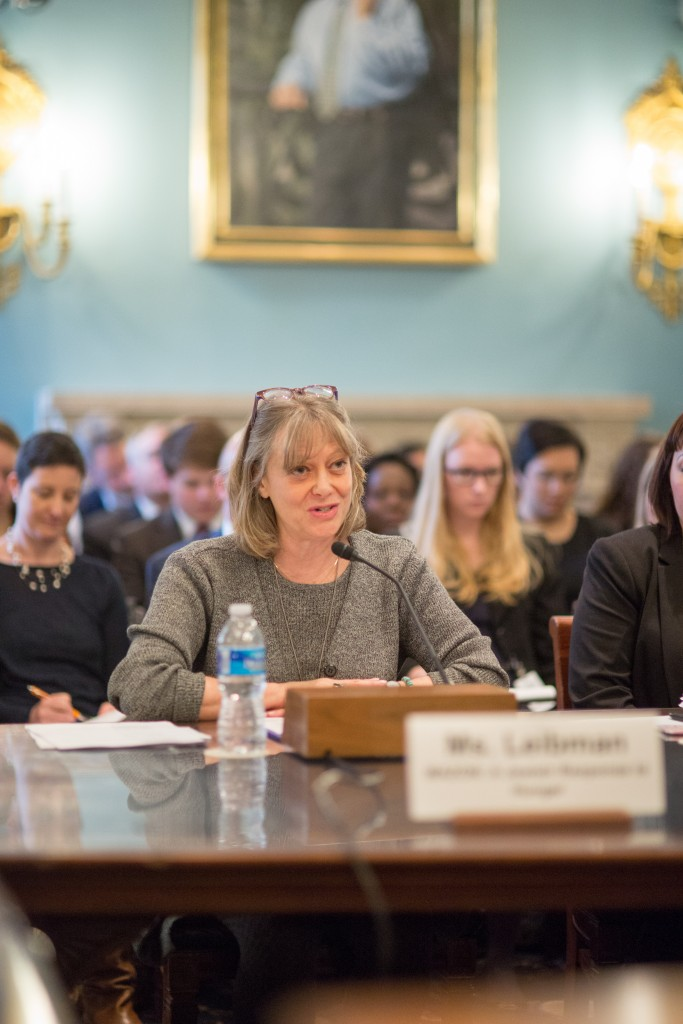 Mazon President  Abby J. Leibman submitted testimony to the House Subcommittee on Nutrition.