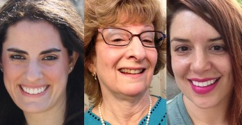 Larissa Marco, from left, Deborah Rosen and Melissa Murphy are among this year's 11 ConnectGens fellows.