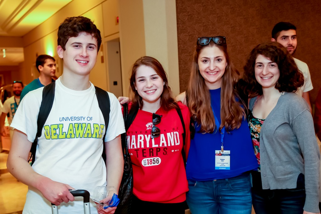 Noa Dar, second from left, joined Israeli-American college students from across the country last weekend in Los Angeles at the IAC Mishelanu national conference. Bell Productions
