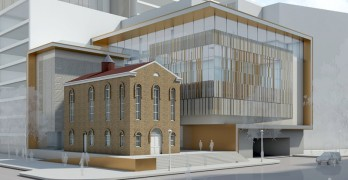 A rendering of the facility at Third and F streets that will be the Lillian and Albert Small Jewish Museum in 2019. Photos courtesy of the Jewish Historical Society of Greater Washington.