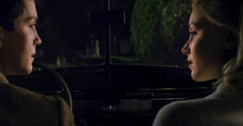 "Logan Lerman and Sarah Gadon in ""Indignation."" Courtesy of Roadside Attractions"