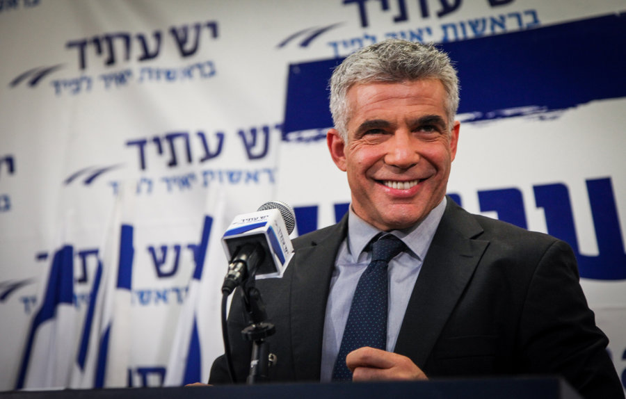 MK Yair Lapid, seen here in 2013, said he plans to meet with Jewish Democratic members of Congress. File photo