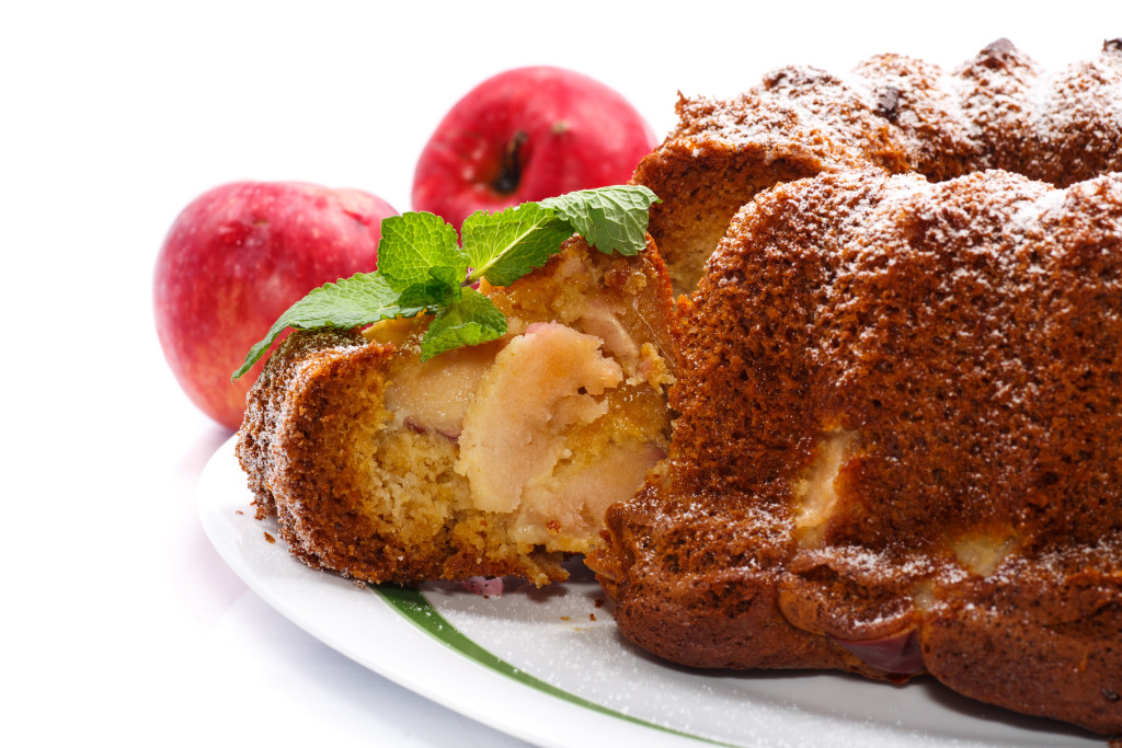 Apple and honey cake can be made ahead and frozen, as it freezes well.