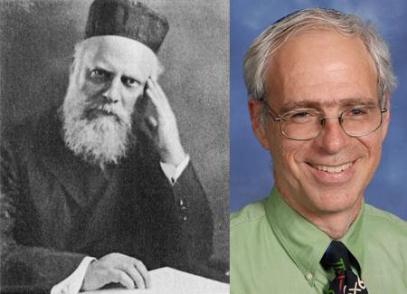 Gedalia Silverstone, left, was the congregation's first rabbi. Rabbi Ethan Seidel is its current one. Courtesy Tifereth Israel Congregation
