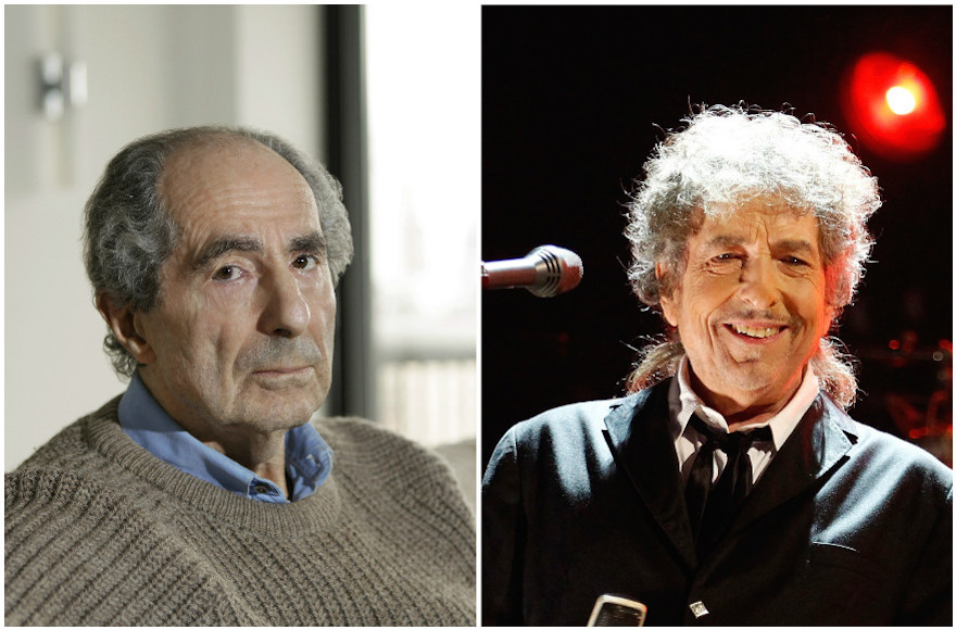 The time for Philip Roth, left, to win a Nobel Prize may be running out. Bob Dylan, right, won the prize on Oct. 13, 2016. (Roth photo: Julian Hibbard; Dylan photo: Christopher Polk/both Getty Images)