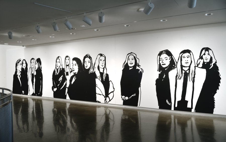 "The exhibit ""Alex Katz: Black and White"" will be on display at the American University Museum through Dec. 18. Photos by Gregory Staley"
