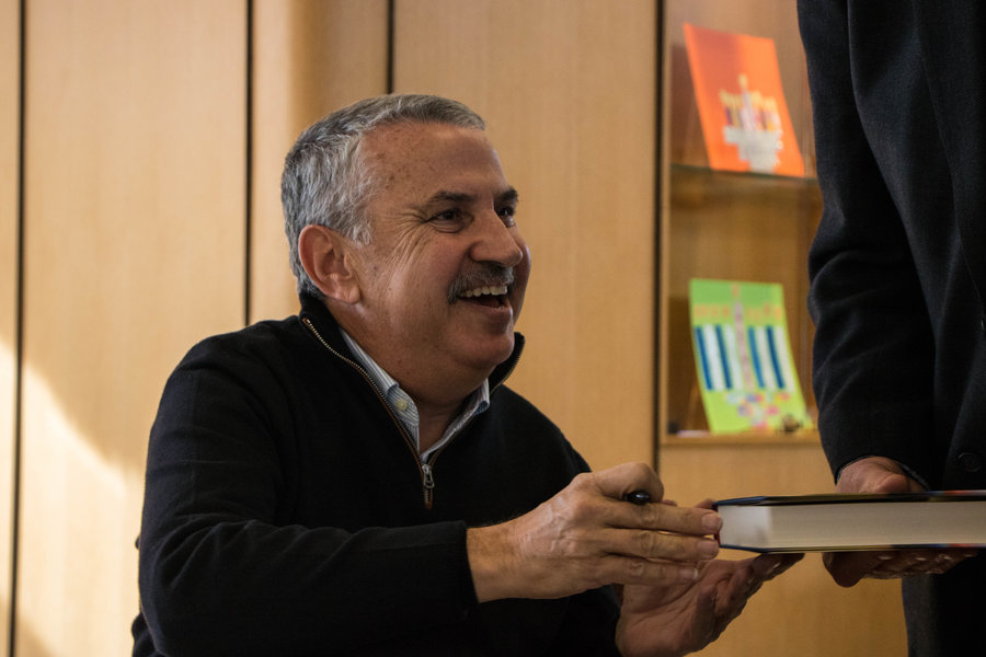 "New York Times columnist Tom Friedman says people are living in an ""age of acceleration."" Photo by Justin Katz"