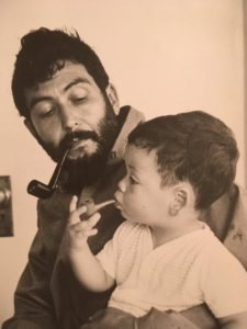 Nat Hentoff, left, with his son Nick. Photo via Twitter.