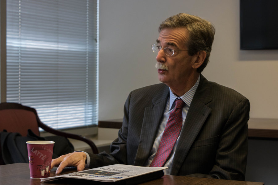 Maryland Attorney General Brian Frosh said that state attorneys general can play a role in influencing the Trump administration. Photo by Justin Katz
