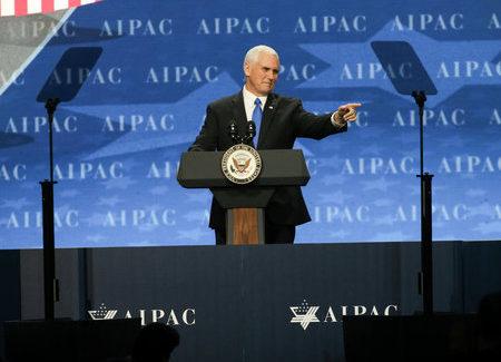 Pence at AIPAC: New man, similar speech