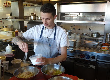 Chef Felikson takes a freewheeling approach to cooking
