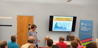 Edna Erez gives a lecture