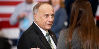 Republican politician Steve King in a suit