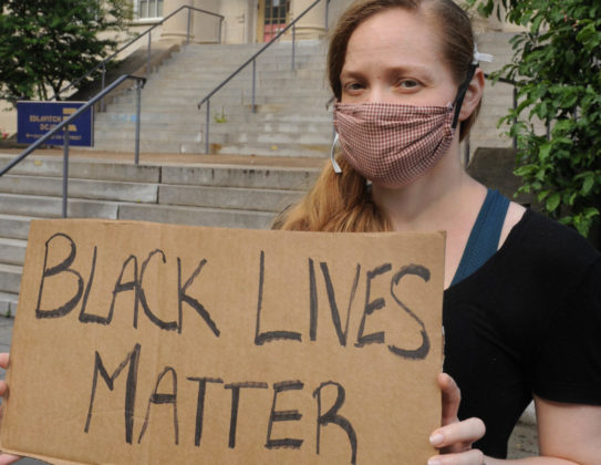 The vigil was part of Washington's protest against police brutality and racism. Photo by Lloyd Wolf