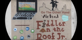 The title screen for Milton Gottesman Jewish Day School' virtual Fiddler on the Roof Jr show.