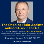 The Ongoing Fight Against Antisemitism in the UK: A Conversation with Lord John Mann