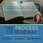 The Process of Renewal: with Jennifer Raskas, Shalom Hartman Institute