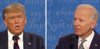 President Donald Trump, left, and Democratic challenger Joe Biden