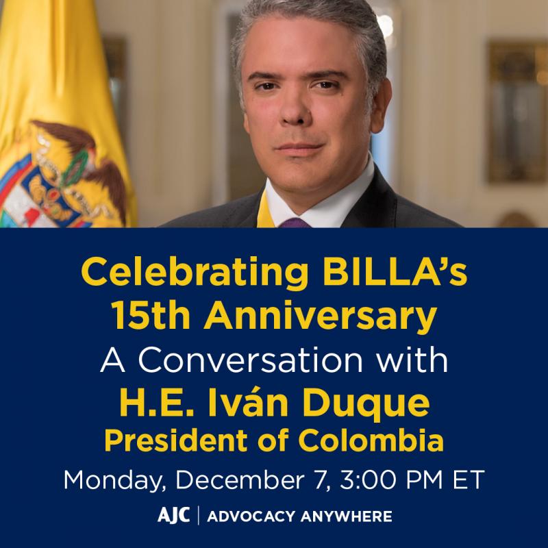 A Conversation with H.E. Iván Duque, President of Colombia