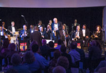 Smithsonian Jazz Masters Orchestra ( SJMO) performs at the National Museum of American History in 2018.