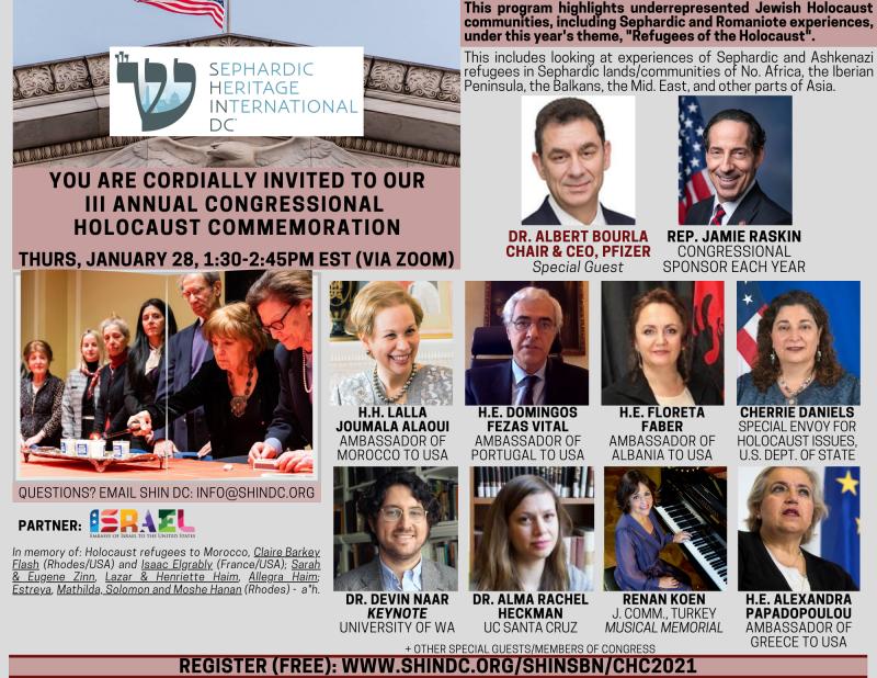 III Congressional Holocaust Commemoration (ZOOM)