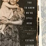 I Want You To Know We Are Still Here: A Post-Holocaust Memoir
