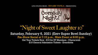 Comedy Night 10 at Shaare Tefila with Professional Comedians