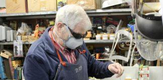 Arnie Hoffman in his workshop