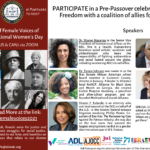 Pre-Passover Celebration of Female Voices of Freedom for International Women's Day